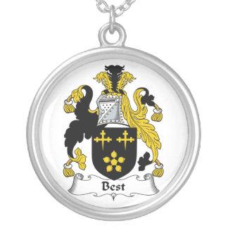 El mejor escudo de la familia collar personalizado