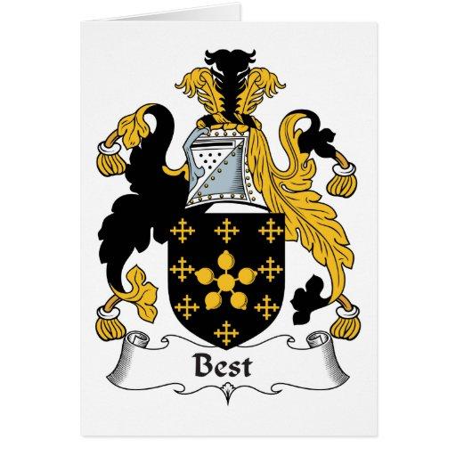 El mejor escudo de la familia felicitaciones