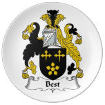El mejor escudo de la familia platos de cerámica