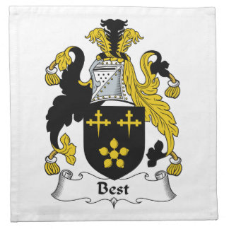 El mejor escudo de la familia servilletas de papel