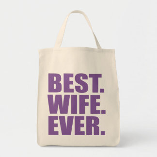 El mejor. Esposa. Nunca. (púrpura) Bolsas
