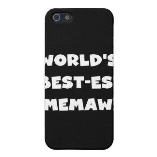 El Mejor-est Memaw del mundo blanco y negro iPhone 5 Coberturas