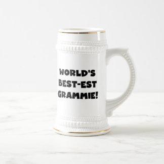 El Mejor-est regalos negros o blancos de Grammie Jarra De Cerveza