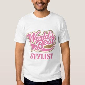 El mejor estilista de los mundos rosados lindos playera