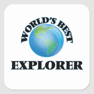 El mejor explorador del mundo calcomanias cuadradas