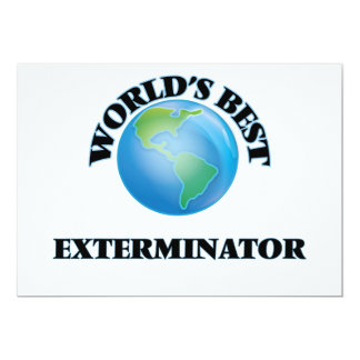 El mejor Exterminator del mundo Invitación 12,7 X 17,8 Cm