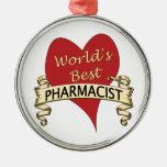 El mejor farmacéutico del mundo adorno de navidad