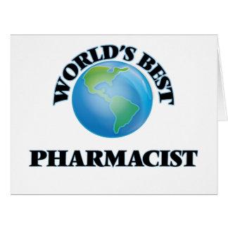 El mejor farmacéutico del mundo tarjeta de felicitación grande