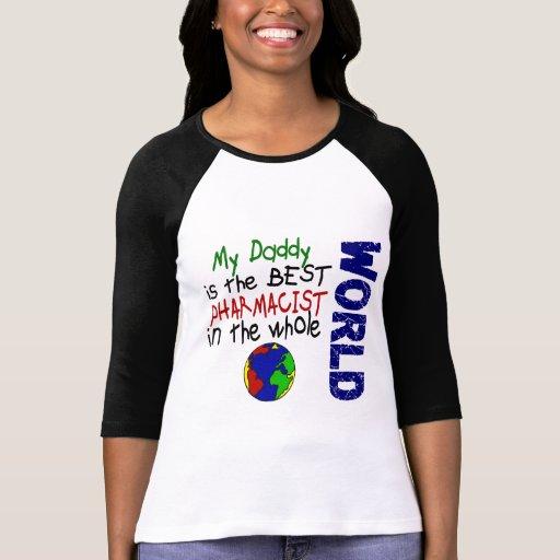 El mejor farmacéutico en el mundo 2 (papá) tee shirt