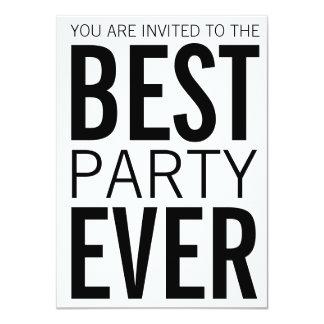 """El mejor fiesta nunca invitación 4.5"""" x 6.25"""""""