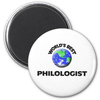 El mejor filólogo del mundo imán para frigorifico