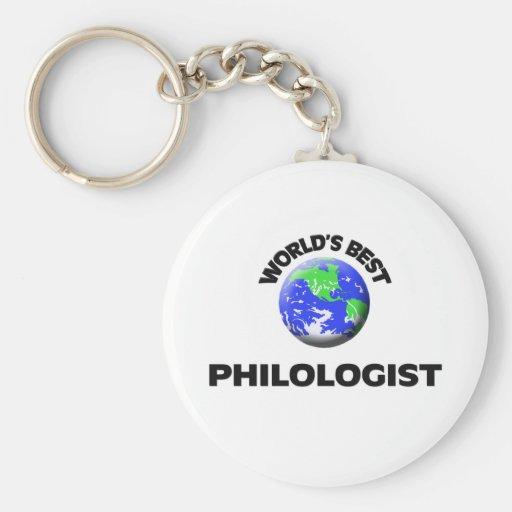 El mejor filólogo del mundo llavero redondo tipo pin