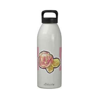 El mejor flor subió de la mamá nunca rosa botella de agua