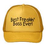 El mejor Freakin Boss nunca Gorros Bordados