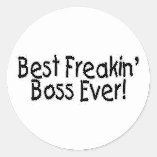 El mejor Freakin Boss nunca Pegatina