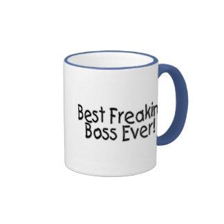 El mejor Freakin Boss nunca Taza De Café
