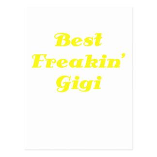 El mejor Freakin Gigi Tarjeta Postal