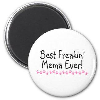 El mejor Freakin Mema nunca Imán Redondo 5 Cm