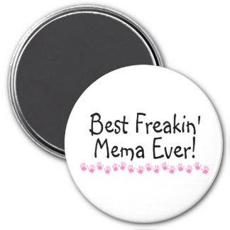 El mejor Freakin Mema nunca Imán Redondo 7 Cm