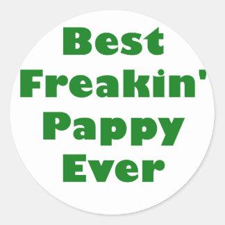 El mejor Freakin Pappy nunca Pegatinas