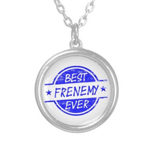 El mejor Frenemy siempre azul Colgantes