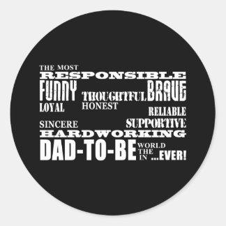 El mejor futuro más grande engendra a papás para pegatina redonda