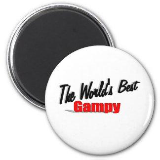 El mejor Gampy del mundo Imán Redondo 5 Cm