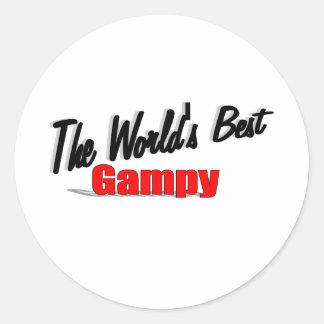 El mejor Gampy del mundo Pegatina Redonda