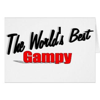 El mejor Gampy del mundo Tarjeta De Felicitación