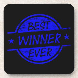 El mejor ganador siempre azul posavasos