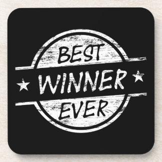 El mejor ganador siempre blanco posavaso