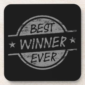 El mejor ganador siempre gris posavasos de bebida