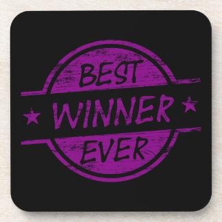 El mejor ganador siempre púrpura posavasos de bebidas