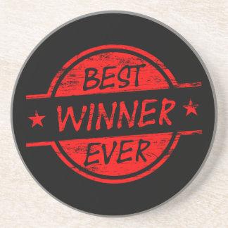 El mejor ganador siempre rojo posavasos manualidades