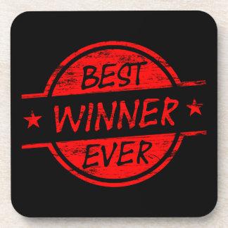 El mejor ganador siempre rojo posavaso