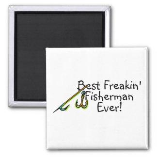 El mejor gancho de Freakin Fishman nunca Imán Cuadrado