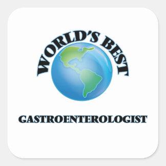 El mejor gastroenterólogo del mundo pegatina cuadrada