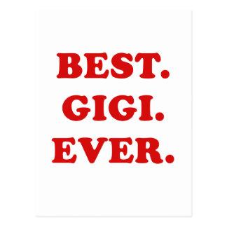 El mejor Gigi nunca Postal