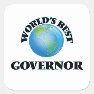 El mejor gobernador del mundo pegatina cuadrada