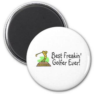 El mejor golfista de Freakin nunca Imán Redondo 5 Cm