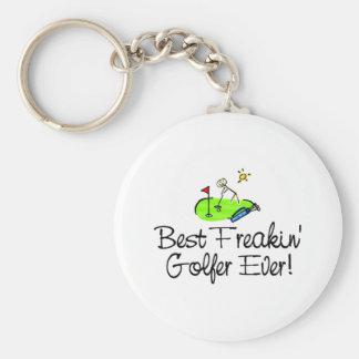 El mejor golfista de Freakin siempre (1) Llavero Personalizado