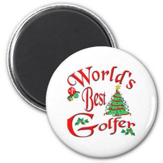 El mejor golfista del mundo imán redondo 5 cm