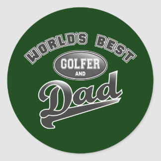 El mejor golfista y el papá del mundo etiqueta redonda