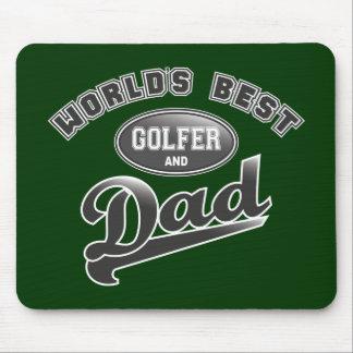 El mejor golfista y el papá del mundo tapete de ratones