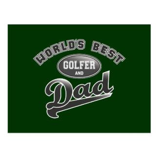 El mejor golfista y el papá del mundo postales