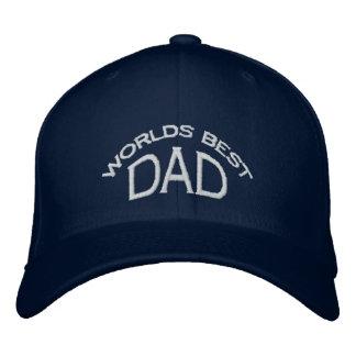 El mejor gorra del papá del mundo (letras ligeras) gorra de béisbol