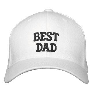 El mejor gorra del papá gorros bordados