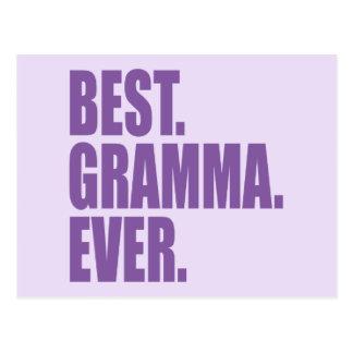 El mejor. Gramma. Nunca. (púrpura) Postales