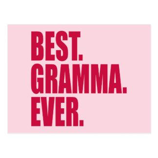 El mejor. Gramma. Nunca. (rosa) Tarjeta Postal