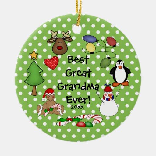 El mejor gran ornamento del navidad de la abuela n ornatos